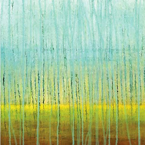 """Rain 30"""" Square Abstract Giclee Print on Canvas Wall Art"""