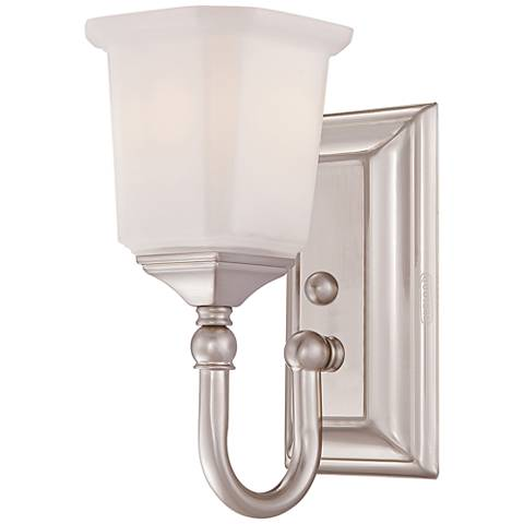 """Quoizel Nicholas 10"""" High Brushed Nickel Wall Sconce"""
