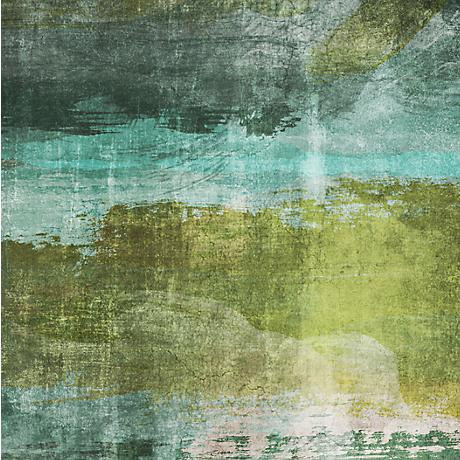"""Green Contemporary I 20"""" Square Giclee Canvas Wall Art"""