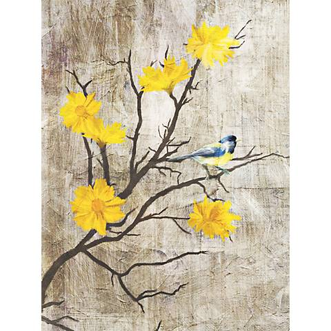 "Gray Birds I 24"" High Giclee Print on Canvas Wall Art"