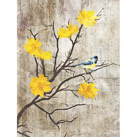 "Gray Birds I 24"" High Giclee Print on Canvas Wall Art"