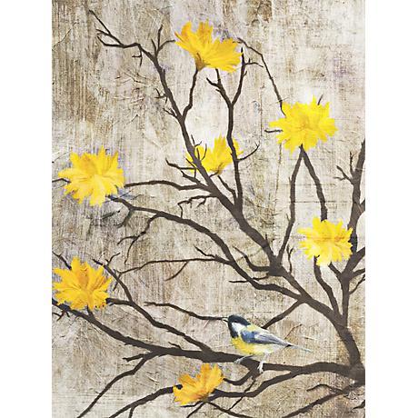 "Gray Birds II 24"" High Giclee Print on Canvas Wall Art"