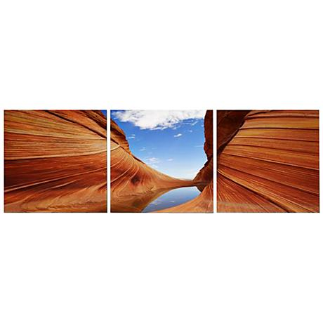 Desert Sandstone Print Triptych Wall Art