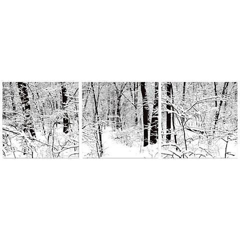 Winter Woods Print Triptych Wall Art
