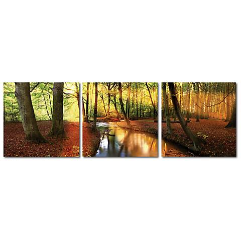 Forest Oasis Print Triptych Wall Art