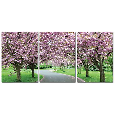 Spring In Bloom Print Triptych Wall Art