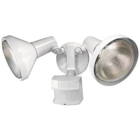 Two-Light White 240-Degree Motion Sensor Security Light