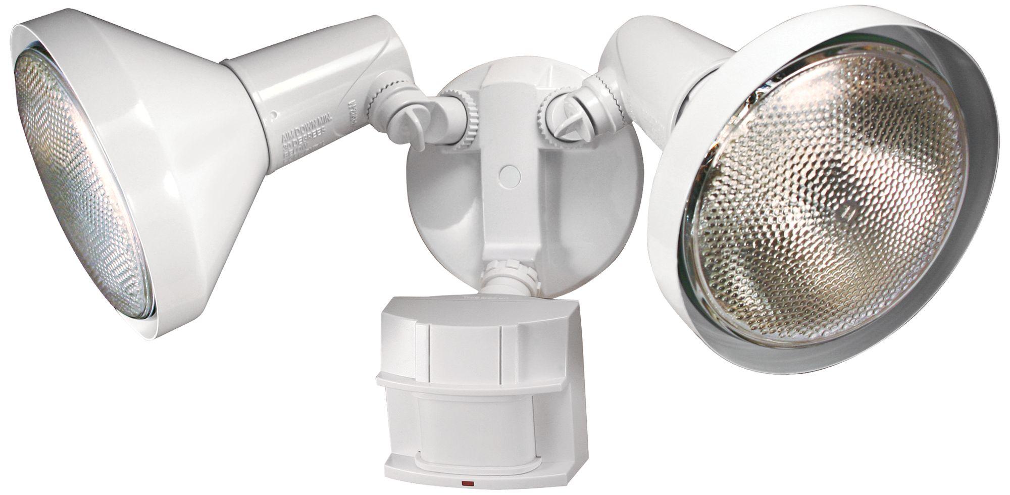 twolight white 180degree motion sensor security light