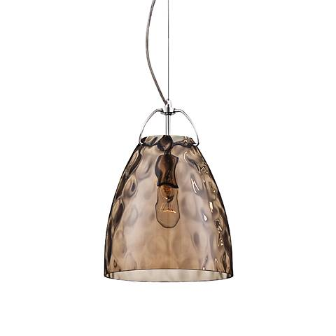 "Eurofase Amero 9 3/4"" Wide Amber Glass Chrome Mini Pendant"