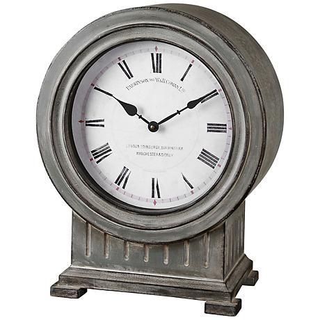 Uttermost Chouteau Dusty Gray Mantel Clock
