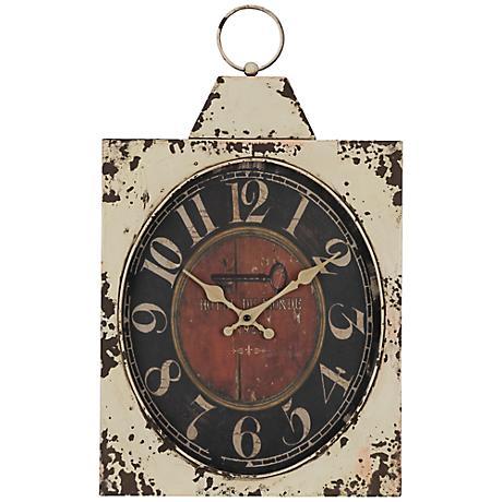 """Cooper Classics Dasha 20"""" High Rustic Wall Clock"""