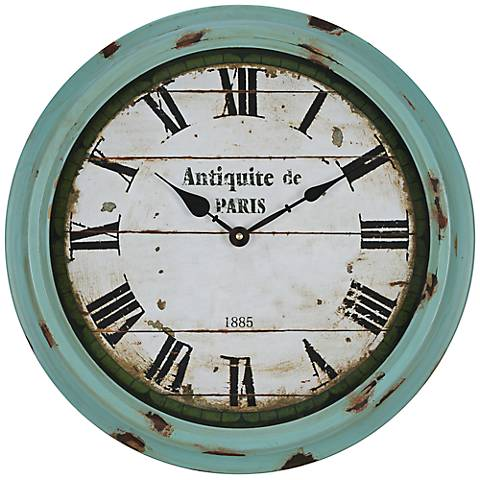 Cooper Classics Anthea 16 3/4 Round Rustic Wall Clock
