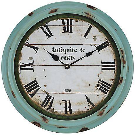 Cooper Classics Anthea 16 3/4 Round Rustic Wall Clock