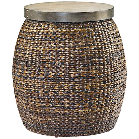 Hammary Hidden Treasures Round Basketweave Accent Table
