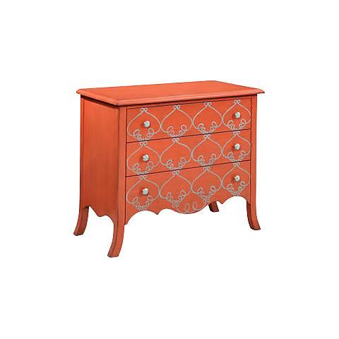 L'Orangerie Tangerine 3-Drawer Hall Chest