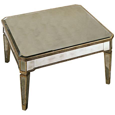 Marietta Mirrored Square Cocktail Table