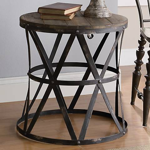 Crestview Collection Industrial Side Table 3k665