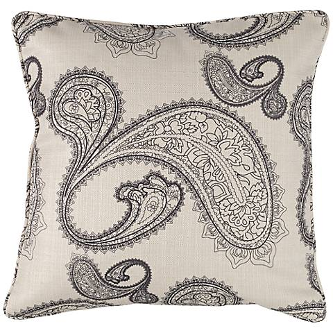 """angelo:HOME Black and White Paisley 18"""" Square Throw Pillow"""
