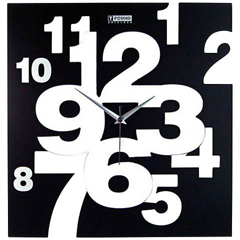 "Cut Out Artistic 15 1/2"" Square Wall Clock"