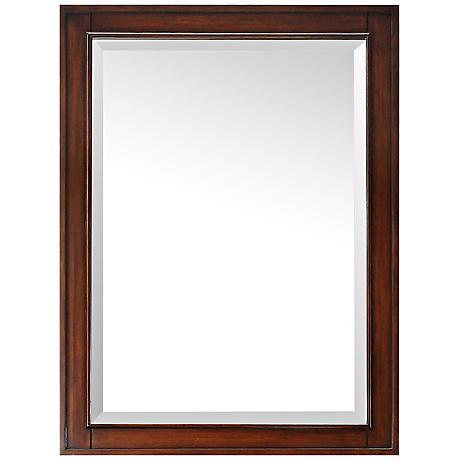 "Avanity Brentwood Walnut 24"" x 32"" Wall Mirror"