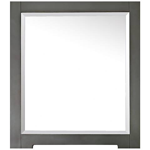 "Avanity Kelly Gray Blue 28"" x 32"" Wall Mirror"