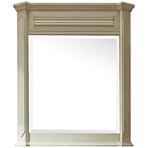 "Avanity Kingswood White 30"" x 35"" Wall Mirror"