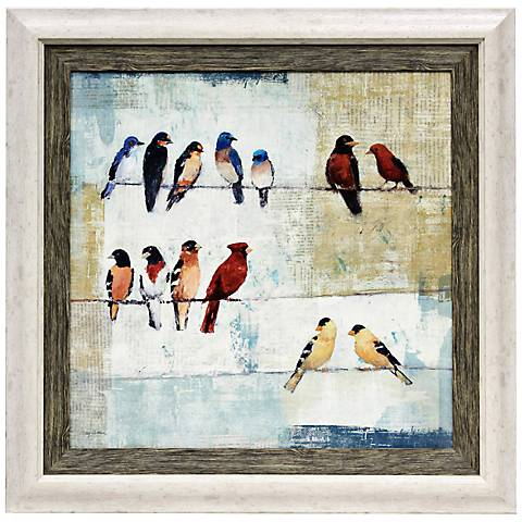 """The Usual Suspects 36"""" High Framed Bird Wall Art"""