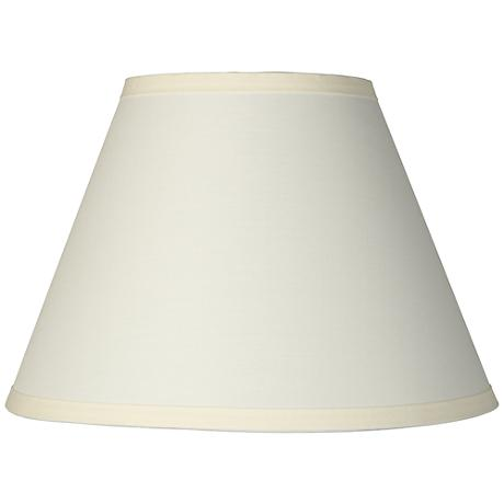 Ivory Table Lamp Clip Shade 6x12x8.5 (Clip-On)