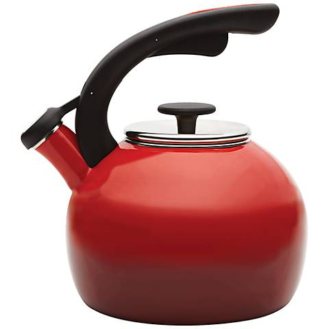 Rachael Ray 2-Quart Red Crescent Teakettle