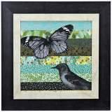 "Bookplate II 18"" Square Framed Bird Wall Art"
