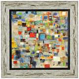 "Complexity 36"" Square Abstract Framed Wall Art"