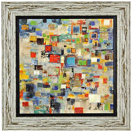 """Complexity 36"""" Square Abstract Framed Wall Art"""
