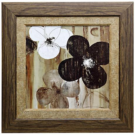 """Carrara II 27 1/2"""" Square Framed Botanical Wall Art"""