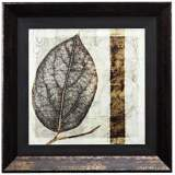 "Fall Leaves I 24"" Square Framed Leaves Wall Art"