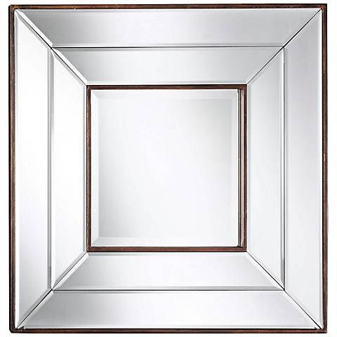 """Cooper Classics Clarence Frameless 20"""" Square Wall Mirror"""