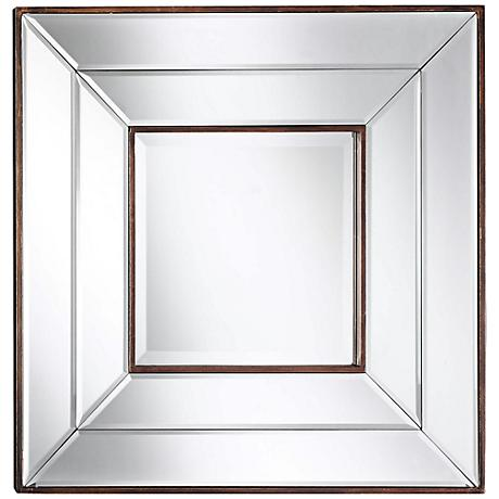 "Cooper Classics Clarence Frameless 20"" Square Wall Mirror"