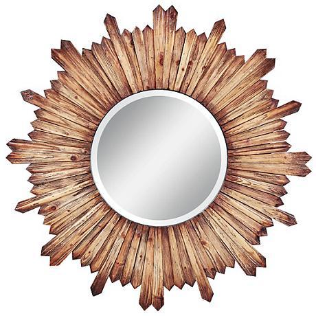 "Cooper Classics Catherine Wood 36"" Round Wall Mirror"