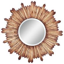 "Cooper Classics Catherine Wood 36"" Round Wall Mirror"
