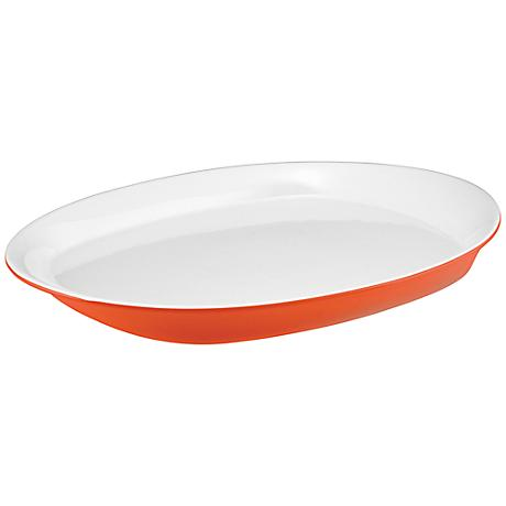 """Rachael Ray Round and Square Orange 14"""" Oval Platter"""