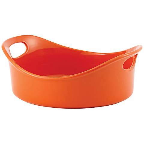 Rachael Ray Stoneware 3-Quart Orange Open Baker