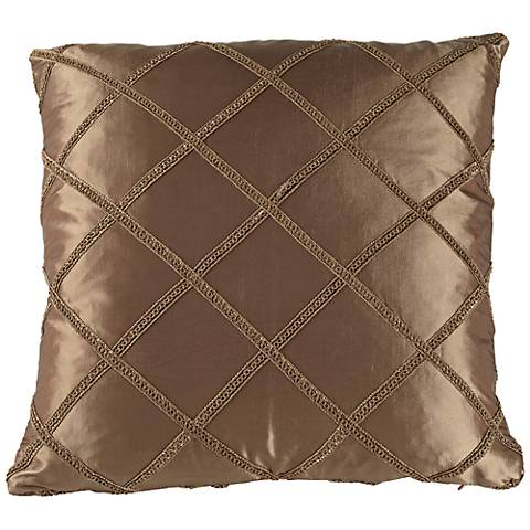 "Paramount 20"" Square Antique Gold Throw Pillow"