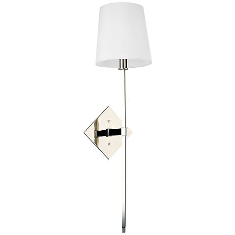 "Hudson Valley Cortland 25 1/2"" High Nickel Wall Sconce"