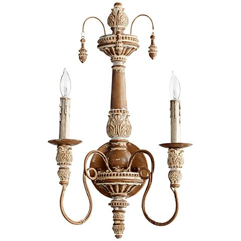 "Quorum Salento Collection 11 1/2"" Wide French Umber Sconce"