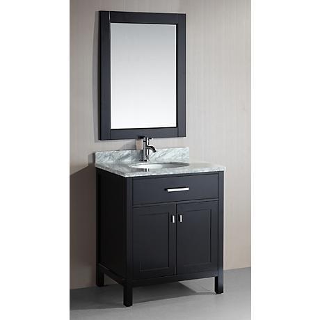"London 30"" Wide Espresso Single Sink Vanity Set"
