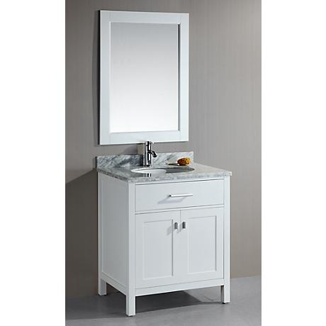 London 30 Quot Wide White Single Sink Vanity Set 3m509