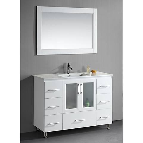 """Stanton 48"""" Wide Single Drop-In Sink White Vanity Set"""