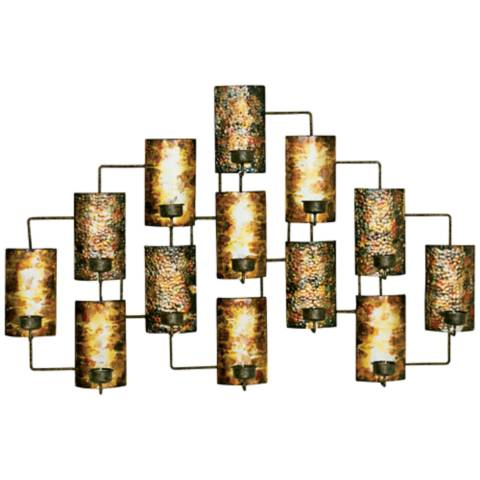Metal Wall Art Lamps Plus : Metal Candleholder 34 1/2