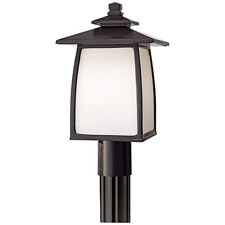 "Feiss Wright House 16"" High Bronze Outdoor Post Light"