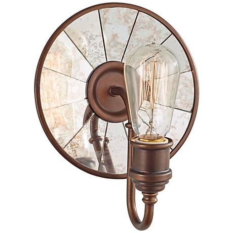 """Feiss Urban Renewal 9 3/4"""" High Astral Bronze Sconce"""