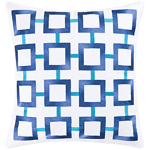 "Blue 18"" Square Throw Pillow"